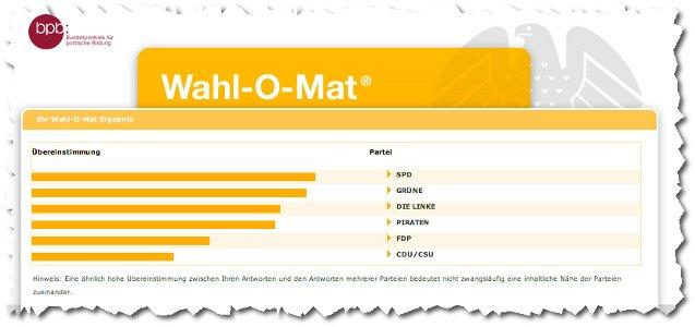 Wahl-o-Mat zur Bundestagswahl 2009